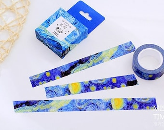 Starry Sky Washi Tape • Van Gogh Inspired Starry Sky Washi Tape