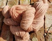 Avocado Pit Dyed Lamb's Wool Yarn from the farm Shetland/Romney Wool Yarn in Dusty Rose Pink