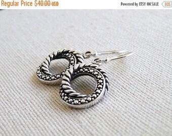 Love You Sale Sterling Silver Bali Earrings SS8