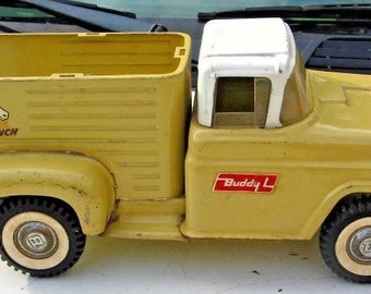 Calling all Farm Girls! Vintage Buddy L Farm Truck - Buttery Soft Yellow - Deep Bed for Planting Herbs & Flowers
