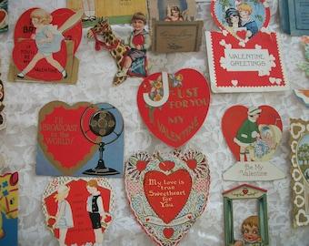 antique ephemera, lot paper vintage valentine, birthday, new baby, shower cards, craft lot of 39 pieces, some victorian scrap, 1920s, 30s