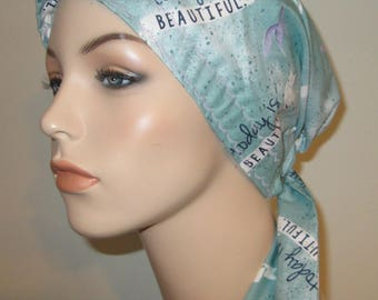 Womens PreTied Today Chemo Hat, Cancer Scarf, Modest Hat Alopecia