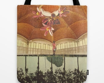 Tote Bag - there was treasure to be found - surreal vintage-inspired collage art for the dreamer