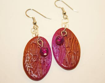 Polymer Jewel-toned Earrings