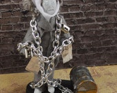Ghost of Jacob Marley-  Charles Dickens-  A Christmas Carol- Victorian Art Character-Miniature Doll