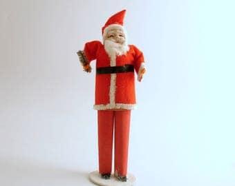 Vintage Santa Figurine Christmas Decoration