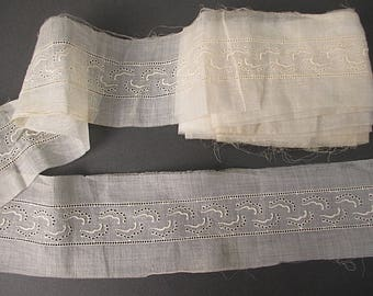Antique Lace insertion organdy eyelet w entredeaux