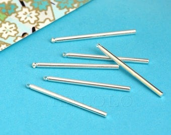 10 pieces Bar Stick Pendants Silvery finish Finding Charm (BN417)