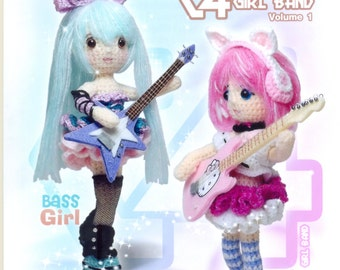 Crochet doll girl band vol 1 pattern - Thai book