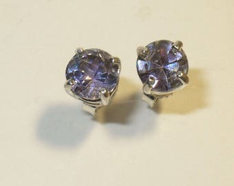 Genuine Tanzanite Stud Earrings - Over 1.5 Carats of Natural Gemstones in Solid Sterling Silver
