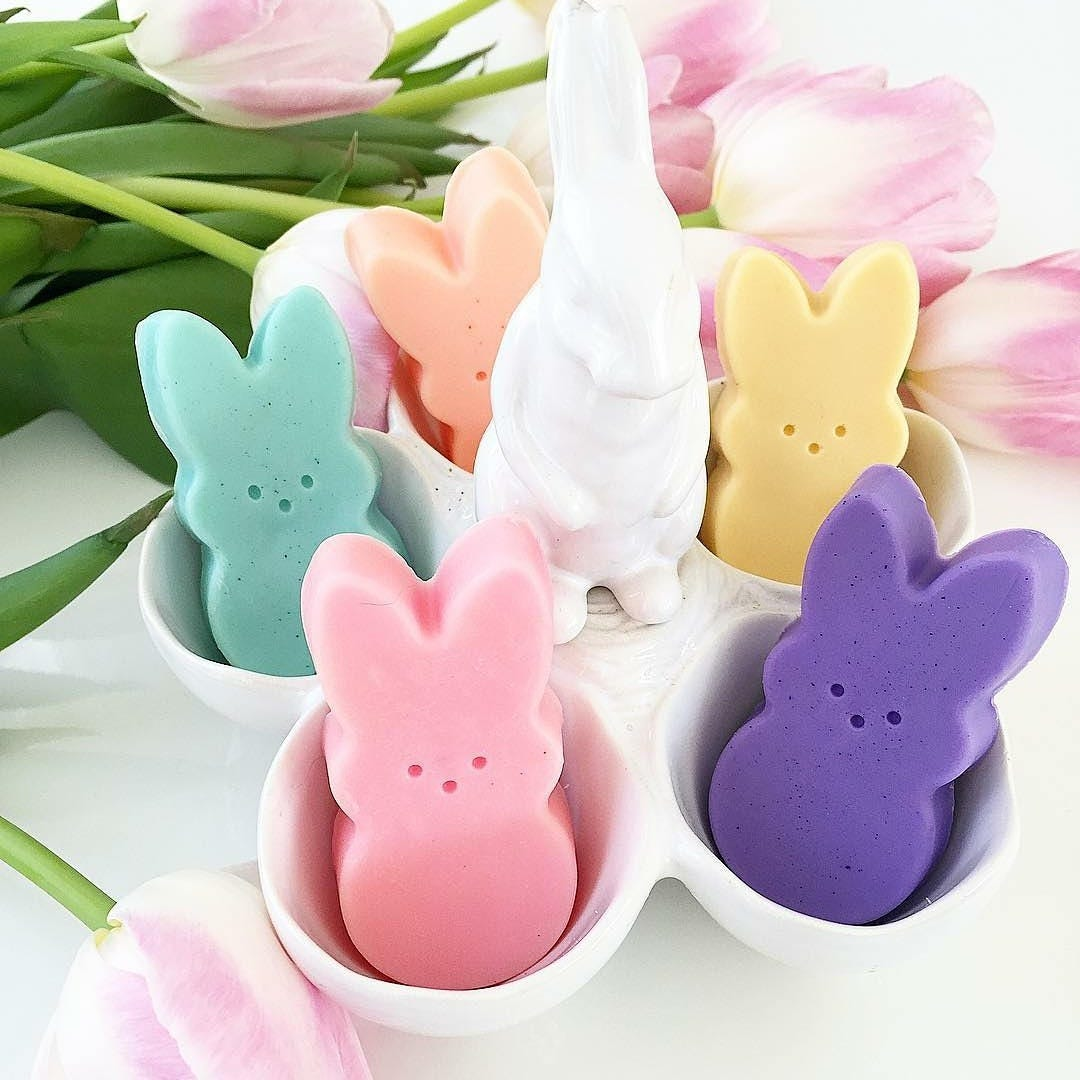 Easter basket stuffers. Easter bunny. Gift for Her. Easter Gift basket. Girlfriend. Peep inspired Soaps. SOAP GIFT SET. Easter basket filler