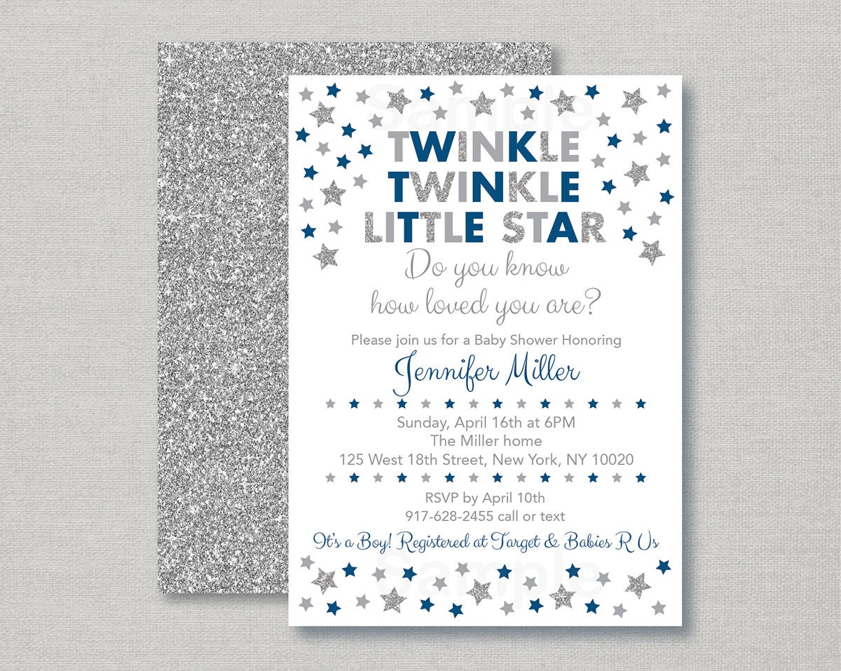 Twinkle Twinkle Little Star Baby Shower Invitation / Twinkle