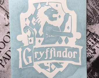 Harry Potter Inspired Gryffindor House Crest Car, Laptop, or Decor Vinyl Decal