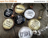 HALF OFF Sale - CUSTOM Names Children Grandchildren : Glass Dome Necklace, Pendant or Keychain Key Ring. HomeStudio Jewelry Gifts and Presen