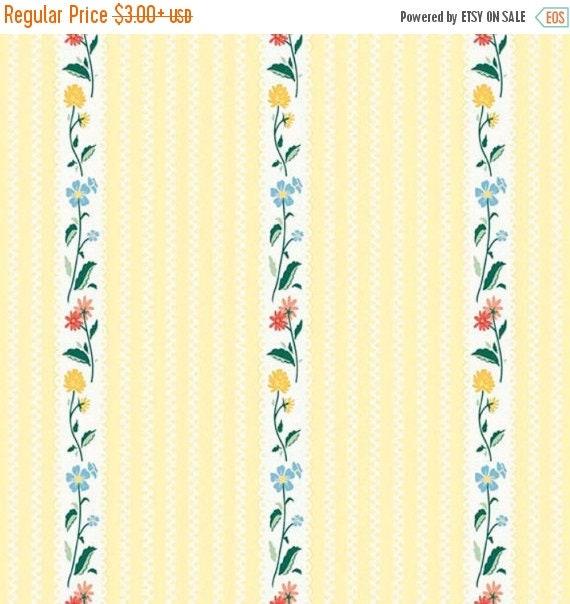 "ON SALE Penny Rose Fabrics ""Bunnies and Cream"" Yellow Stripe"
