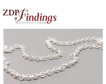 3.28FT (1 MT) Sterling Silver 925 Rolo Chain 2mm In Bulk  (7540085)
