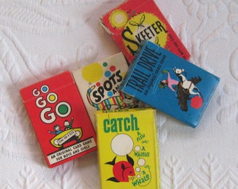 4 children card games  . spots and stripes . trail drive . go go go . catch a fish . aarco playing cards . retro card game
