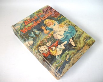 1955 Alice in Wonderland Book  Through the Looking Glass by Lewis Carroll