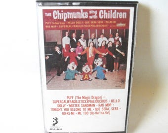 The Chipmunks Cassette Tape Sing with Children