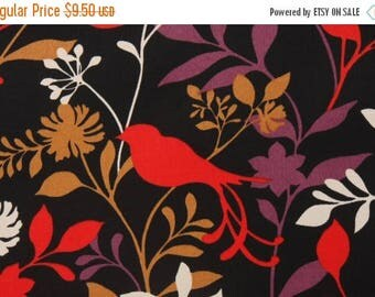 """ON SALE NOW Sale Priced To Go  72"""" Was 19.00 black , red, and gold fabric Table Runner With Red Bird Runner Wedding Bridal Home Decor Rpst"""