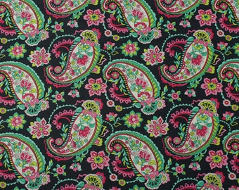 4315 - Paisley Floral Cotton Fabric - 59 Inch (Width) x 1/2 Yard (Length)