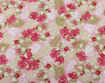 4485 - Mickey Floral Cotton Fabric - 55 Inch (Width) x 1/2 Yard (Length)