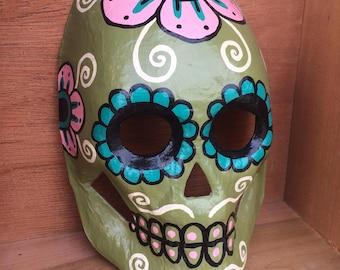Day of the Dead Paper Mache Sugar Skull Mask
