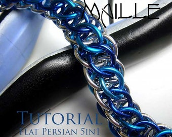 Chain Maille  Tutorial - Flat Persian 5in1 Bracelet
