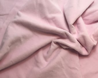 Hand Dyed Cotton VELVETEEN Fabric BLUSH PINK  - 1 Yard