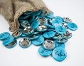 """Birth Affirmation Button """"Relax"""" in Blue"""
