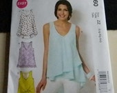 McCall's Misses Tops and Tunics Pattern #6960 Uncut Sizes large to XXL