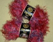 Mango Lion Brand Fun Fur Prints Yarn Eyelash Yarn, two skeins variegated novelty yarn