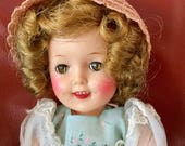 Vintage Shirley Temple Doll by Ideal, Vynill 12 Inches Tall,  Excellent Condition, Collectors Item