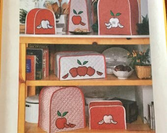 Vintage Simplicity 127 Kitchen Appliance Covers and Potholders Crafts Pattern Uncut