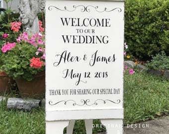 WEDDING SIGNS, Welcome to our Wedding, Seating Signs, Bride and Groom Signs, A Frame Signs, Sandwich Board, Self Standing, 37 x 16
