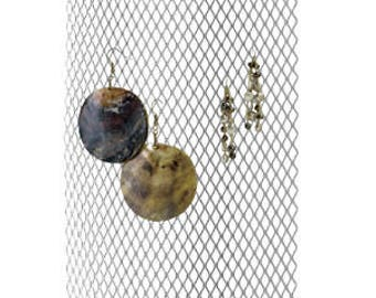 12 Inch Tall Hanging Honeycomb Style Wall Mount Jewelry Display