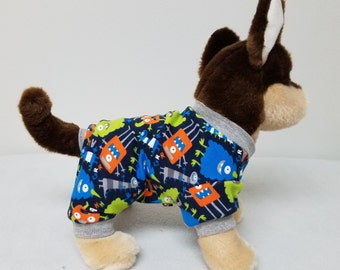 Dog Clothes Little Monster Dog Pajamas, Chihuahua, Yorkie