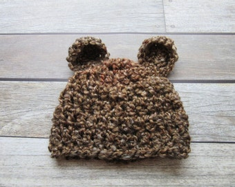 Baby Bear Hat, Baby Hat, Newborn Bear Hat, Newborn Hat, Infant Bear Hat, Infant Hat, Baby Beanie