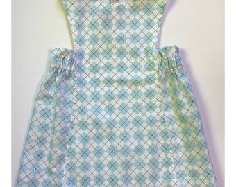 Mascot by Sunday West - button back pinafore dress in argyle : for toddlers and girls