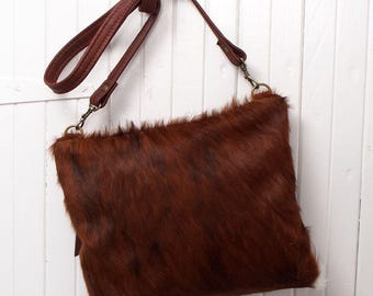 Cowhide Leather Cross Body Bag