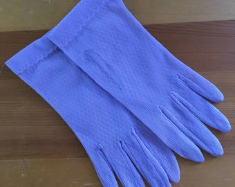 Vintage Lavender Sheer Mesh Wrist Gloves, Size Small