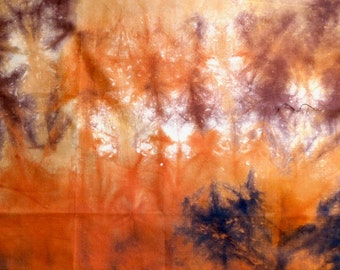 Orange Tie Dye Cotton Fat Quarter