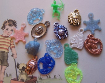 novelty cowboys and indians charms