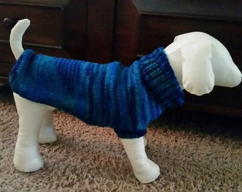 Hand Knit Dog Sweater - Small to Medium