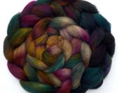 Roving Merino and Yak Combed Top Hand Dyed Roving - Tapestry Two, 4.3 oz.