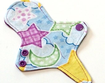 ULTRATHIN Reusable Thongliner Pantyliner with wings for Every Day - Washable - Night Sky