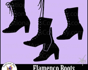 Flamenco Boots EPS and SVG Vinyl Ready File and PNG file Flamenco dance and Small Commercial License (Instant Download)