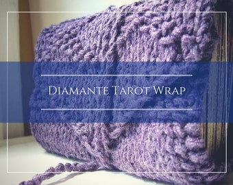 Knitting Pattern for Diamante tarot wrap / tarot pdf / easy knitting pattern / pagan knit pattern / tarot knit pattern / tarot wrap pattern