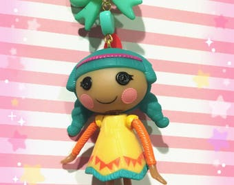 Lalaloopsy Native American Dangle Doll Figure Pastel Beaded Necklace With Bow
