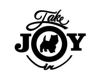 Take Joy In Dog Cairn Terrier Decal